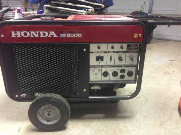 Sample Used Honda ES6500, 12, 6500 Watts Previously Listed For Sale